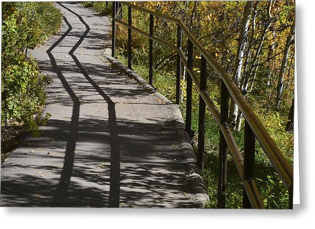 Path Shadow Greeting Card by Cheryl Miller