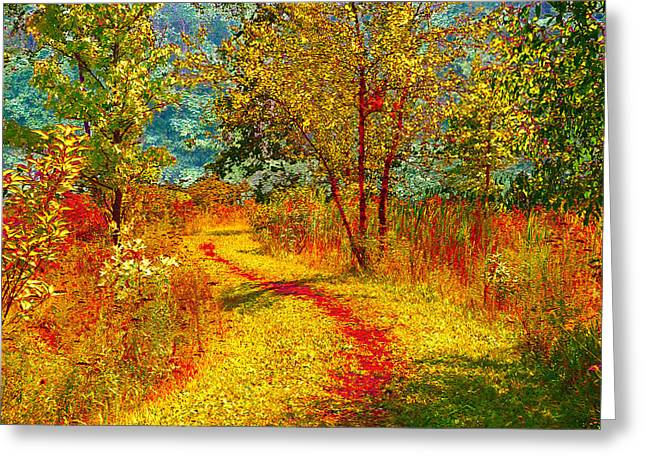 Path Through The Woods Greeting Card by William Beuther