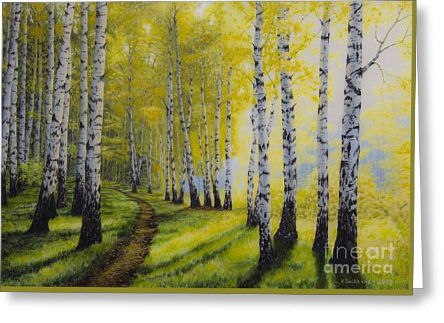 Path To Autumn Greeting Card by Veikko Suikkanen