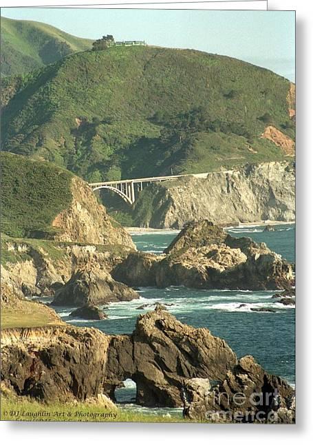 Path To Bixby Bridge Greeting Card by DJ Laughlin