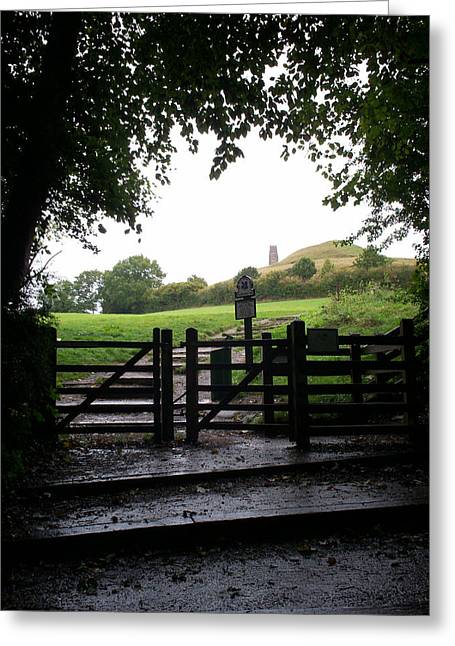 Path To Glastonbury Tor Greeting Card by Richard Andrews