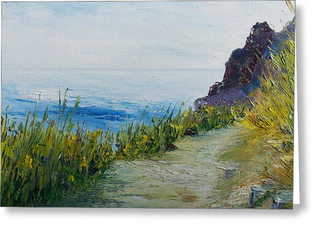 Path To Lovers Cove Greeting Card