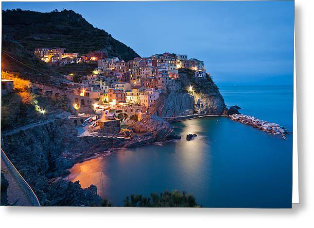 Path To Manarola Greeting Card by Mike Reid