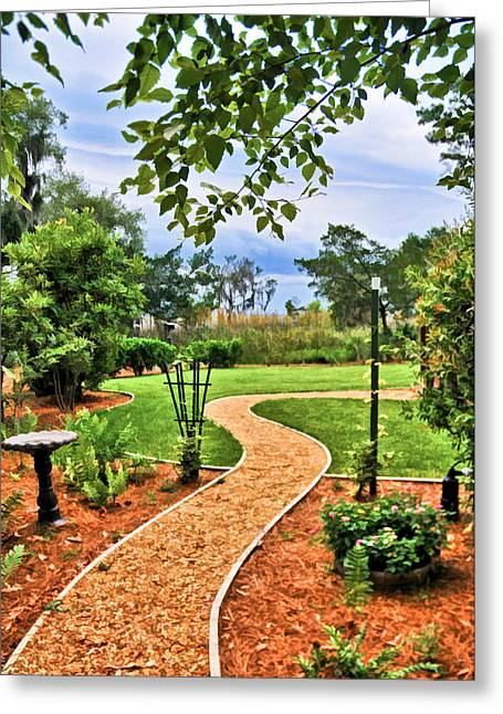 Garden Path To Wild Marsh Greeting Card
