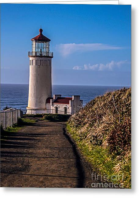 Path To North Head Lighthouse Greeting Card by Robert Bales