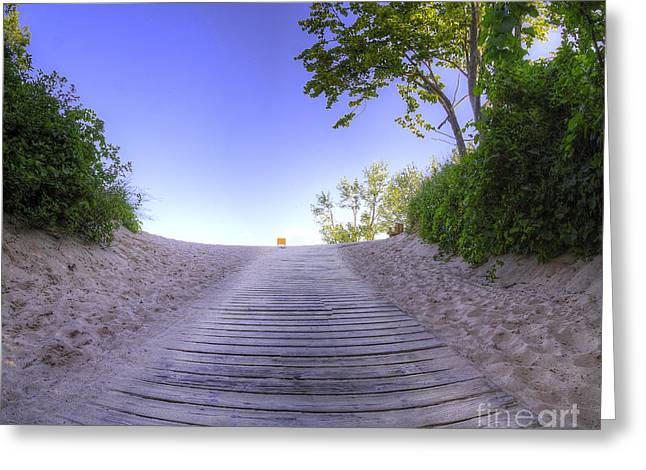 Path To Overlook At Sleeping Bear Dunes Greeting Card by Twenty Two North Photography
