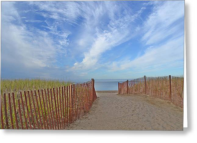 Path To The Beach Greeting Card by Marjorie Tietjen