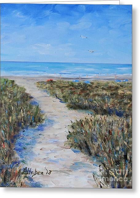 Path To The Beach Greeting Card
