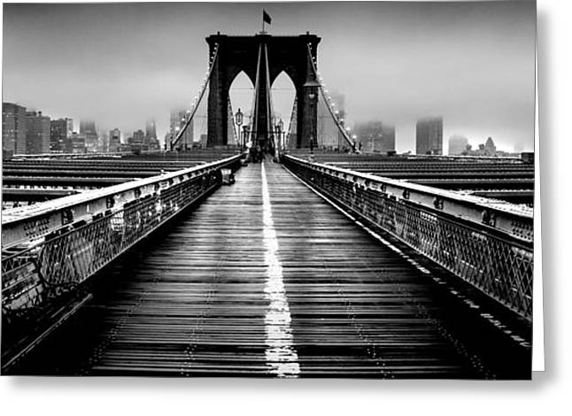 Path To The Big Apple Greeting Card by Az Jackson