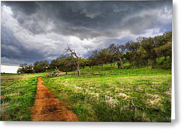 Path To The Clouds Greeting Card
