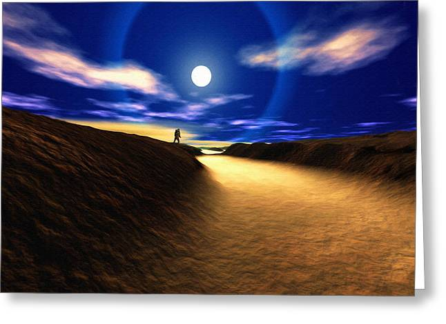 Path To The Moon Greeting Card