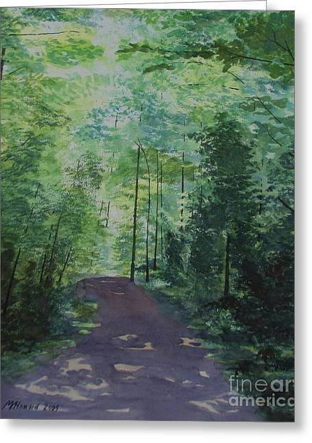 Path To The River Greeting Card by Martin Howard
