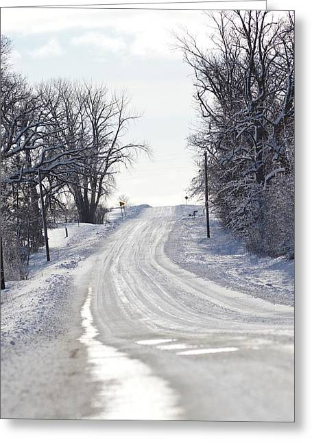 Greeting Card featuring the photograph Path To The Unknown by Dacia Doroff