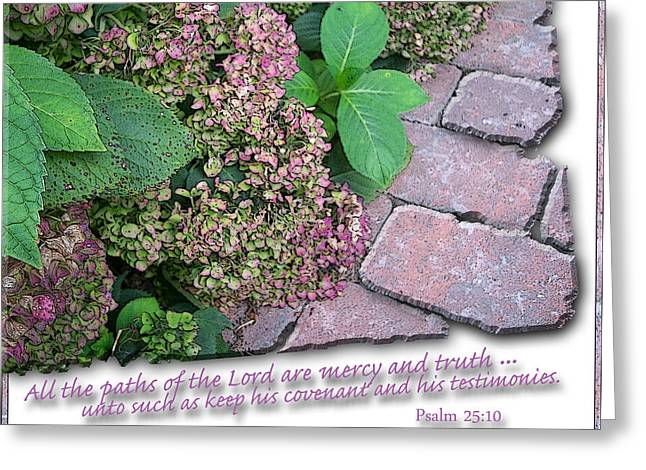 Paths Of The Lord Greeting Card by Larry Bishop
