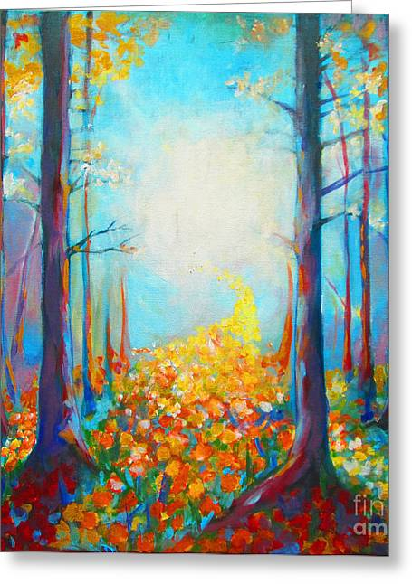Pathway Greeting Card by Tamer and Cindy Elsharouni