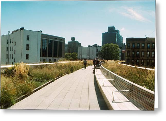 Pathway, High Line, Chelsea, Manhattan Greeting Card by Panoramic Images