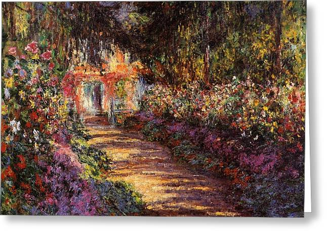 Pathway In Monets Garden In Giverny Greeting Card