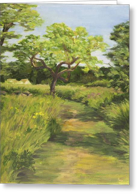 Pathway Leading Home Greeting Card by Elena Liachenko