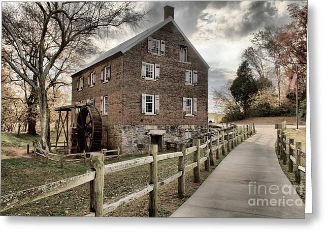 Pathway To Kerr Grist Mill Greeting Card by Adam Jewell