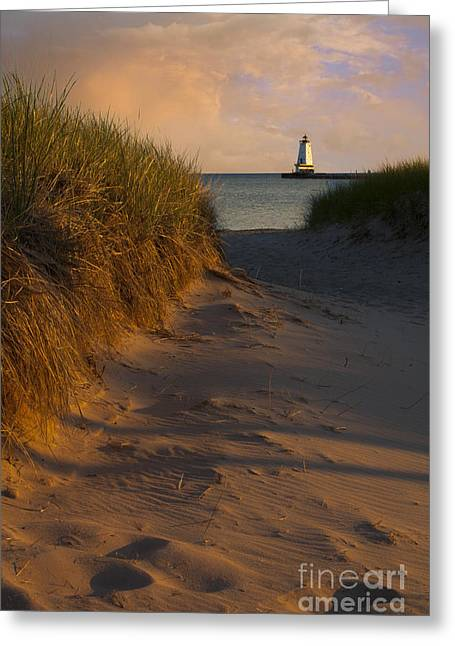 Pathway To Lighthouse Greeting Card