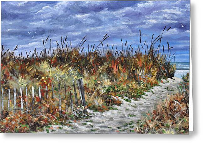 Pathway To North Myrtle Beach Greeting Card
