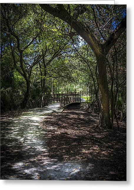 Pathway To The Bridge Greeting Card