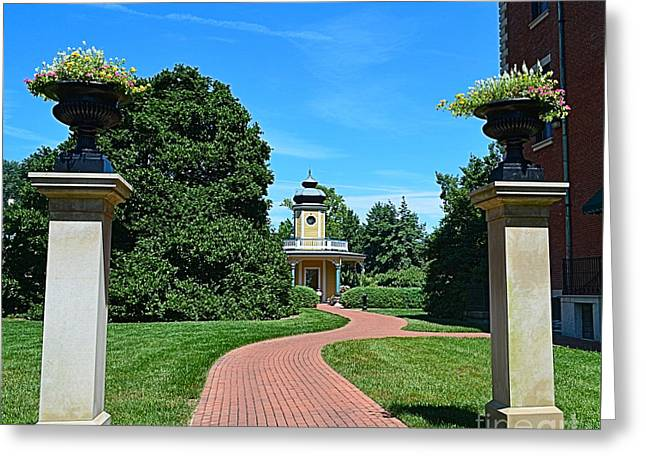 Pathway To The Observatory Greeting Card by Luther Fine Art