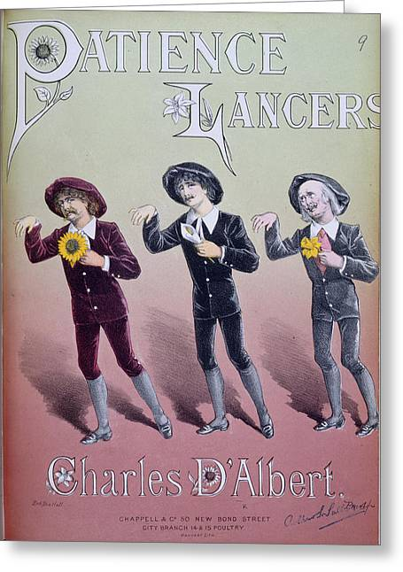 Patience Lancers Greeting Card by British Library