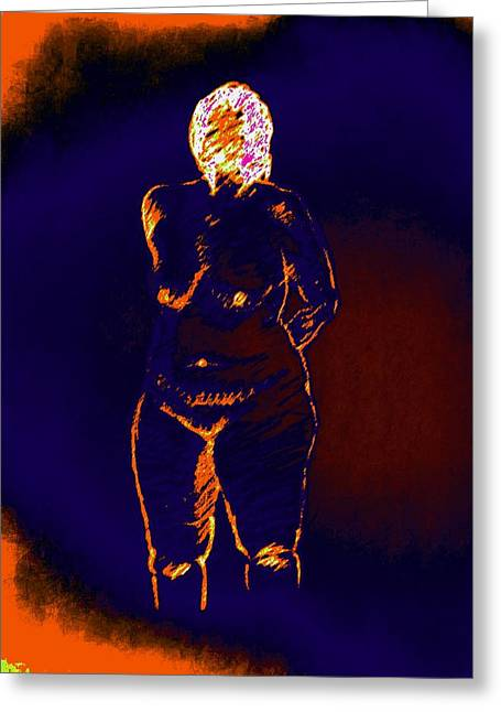 Patient Woman Greeting Card by Genio GgXpress