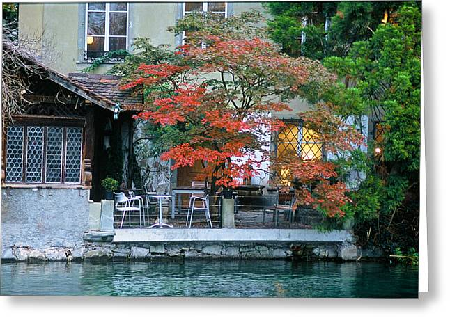 Patio On The River Greeting Card