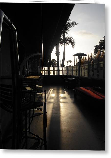 Patio Sunset Greeting Card by Bruce Sommer