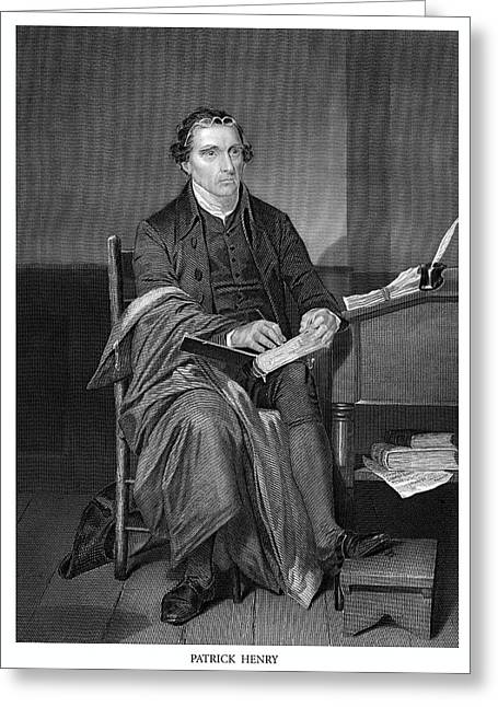 Patrick Henry Greeting Card by Historic Image