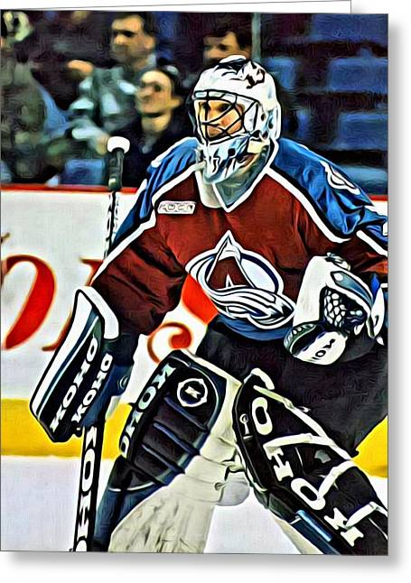 Patrick Roy Greeting Card by Florian Rodarte