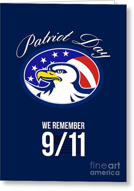 Patriot Day We Remember 911 Poster Card Greeting Card by Aloysius Patrimonio