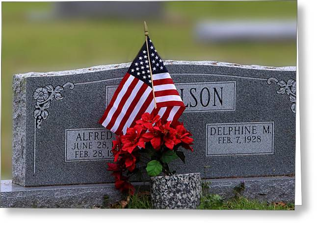 Patriot Grave Greeting Card by Linda Phelps