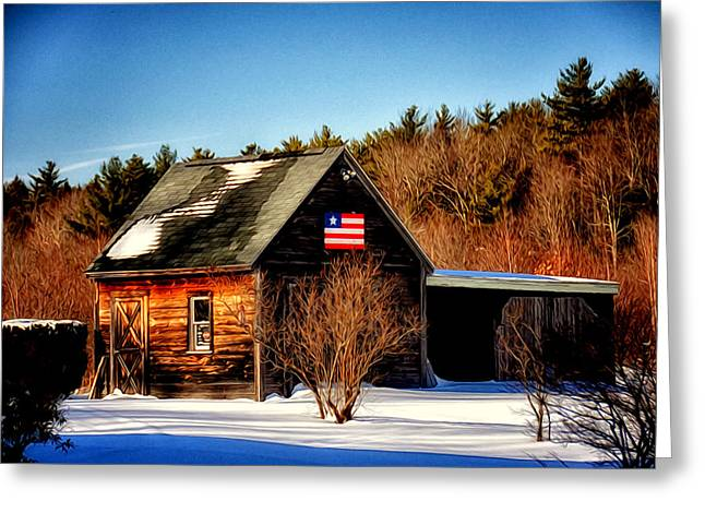 Patriot Pride Greeting Card by Tricia Marchlik