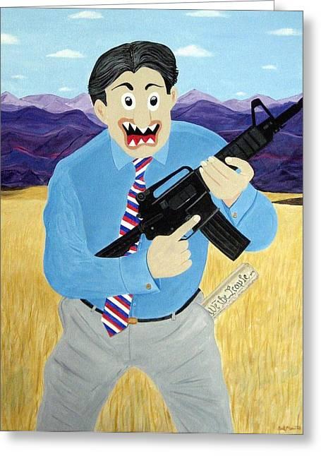 Patriot Greeting Card by Sal Marino