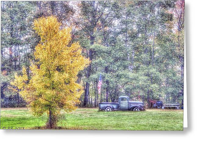 Patriotic Autumn Greeting Card by Richard Bean