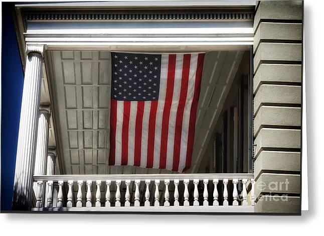 Patriotic Charleston Greeting Card by John Rizzuto