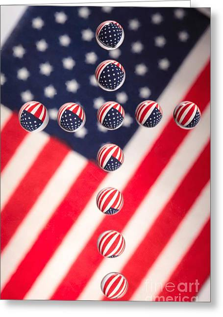 Patriotic Cross Greeting Card by Pattie Calfy