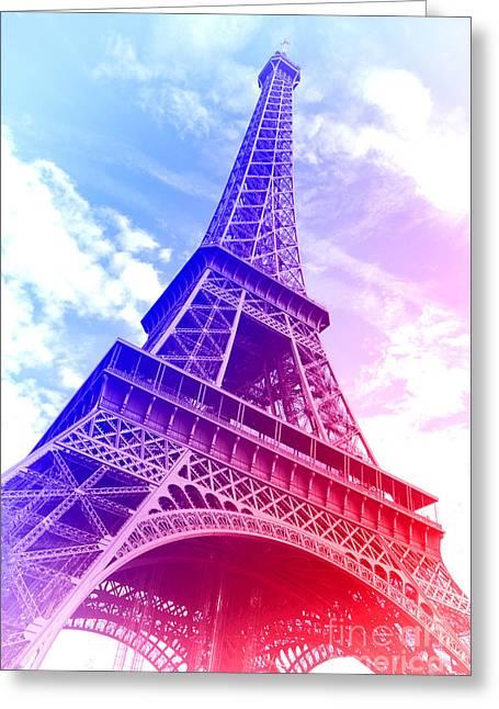 Patriotic Eiffel Tower Greeting Card