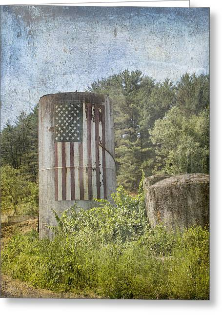 Patriotic Farm Silo Greeting Card