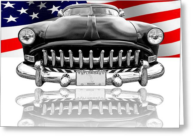 Patriotic Hudson 1952 Greeting Card by Gill Billington