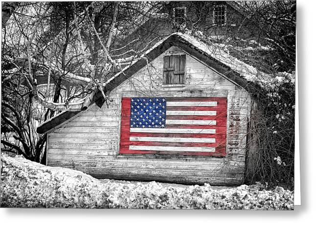 Patriotic American Shed Greeting Card