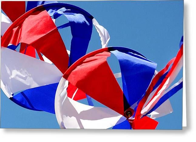 Patriotic Kite Greeting Card by Art Block Collections