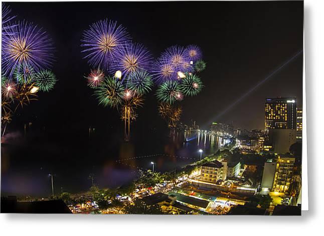 Pattaya Fire Work 2012 Festival Greeting Card