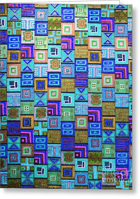 Pattern And Color Study2 Greeting Card by Megan Dirsa-DuBois