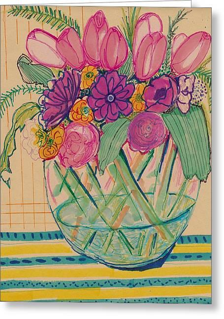 Pattern Flower Still Life Greeting Card