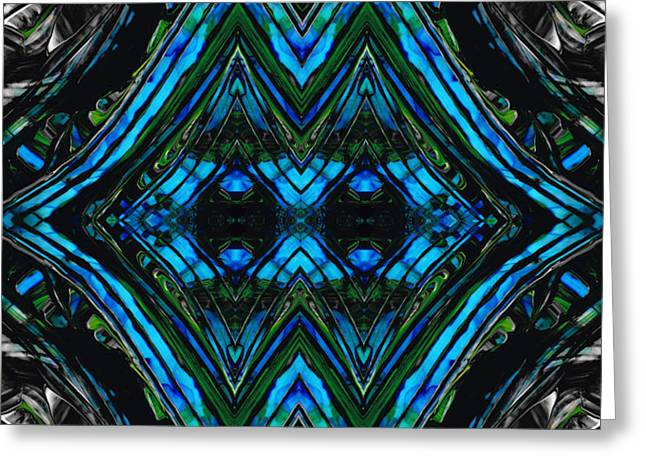 Patterned Art Prints - Cool Change - By Sharon Cummings Greeting Card by Sharon Cummings