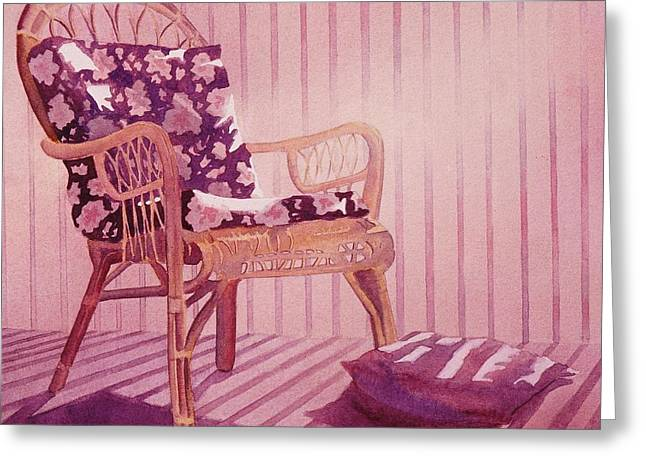 Greeting Card featuring the painting Patterns In The Morning by John  Svenson